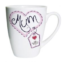Heart Stitch Mum Latte Mug